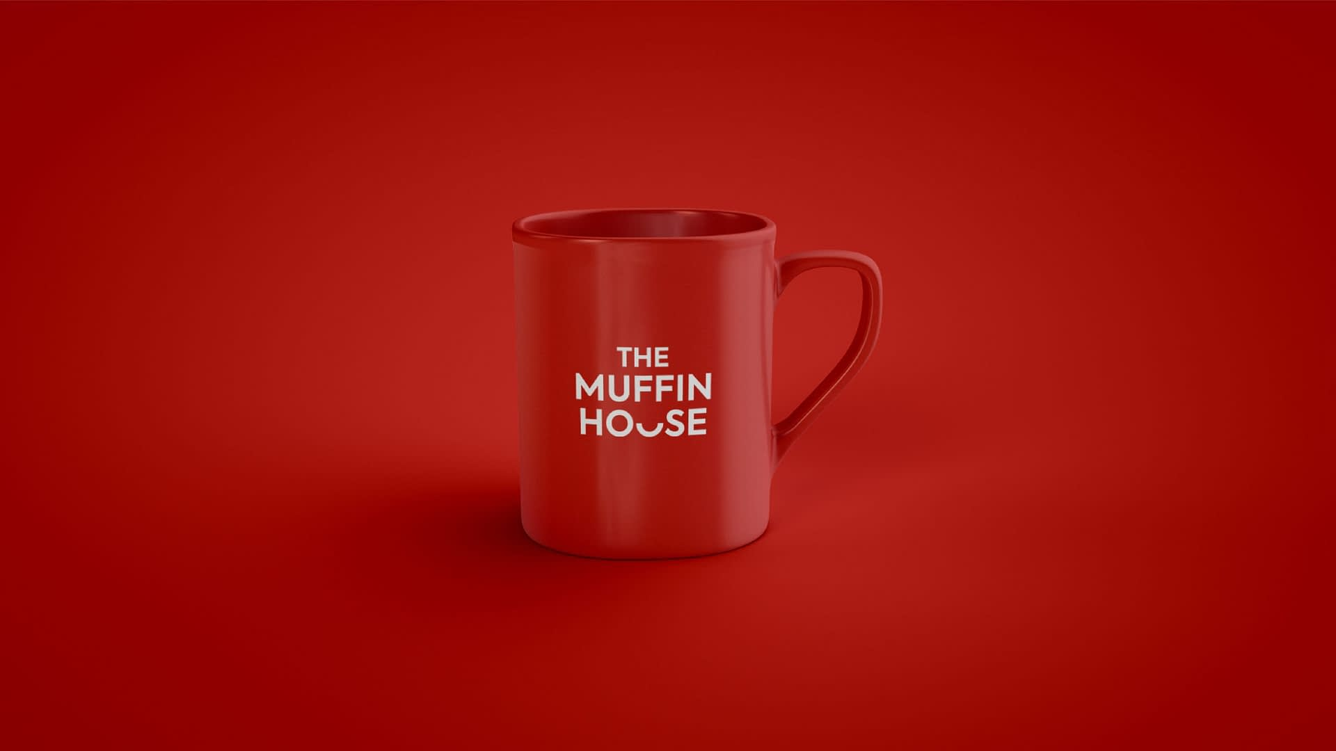 THE MUFFIN HOUSE COFFEE CUP BRANDING DESIGN