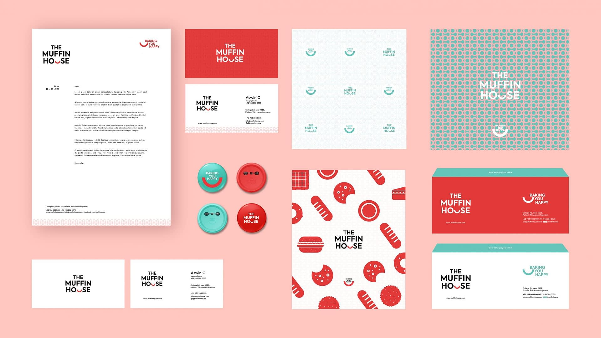 THE MUFFIN HOUSE BRANDING