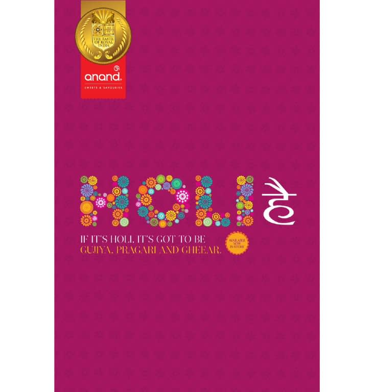 ANAND-SWEETS-HOLI COLLECTION PACKAGE DESIGN