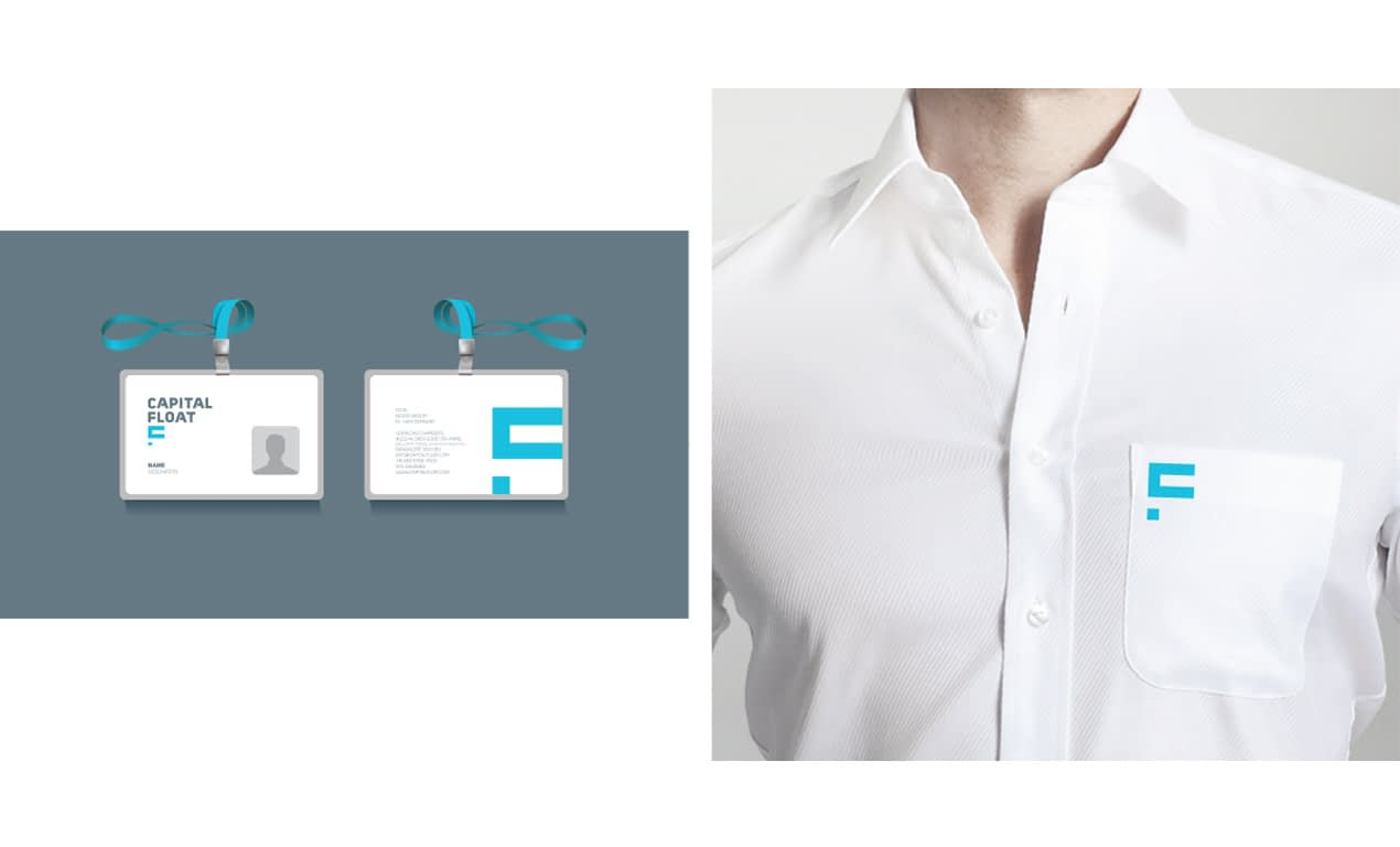 CAPITAL FLOAT SHIRT AND ID CARD BRANDING