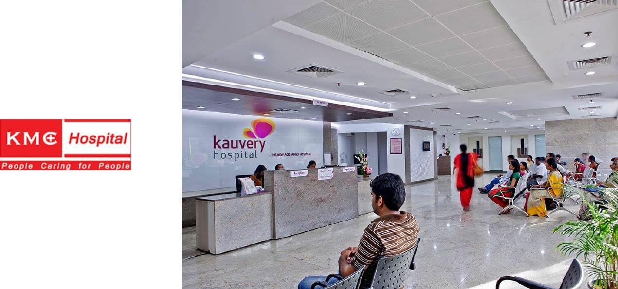 KAUVERY HOSPITALS RECEPTION BOARD DESIGN
