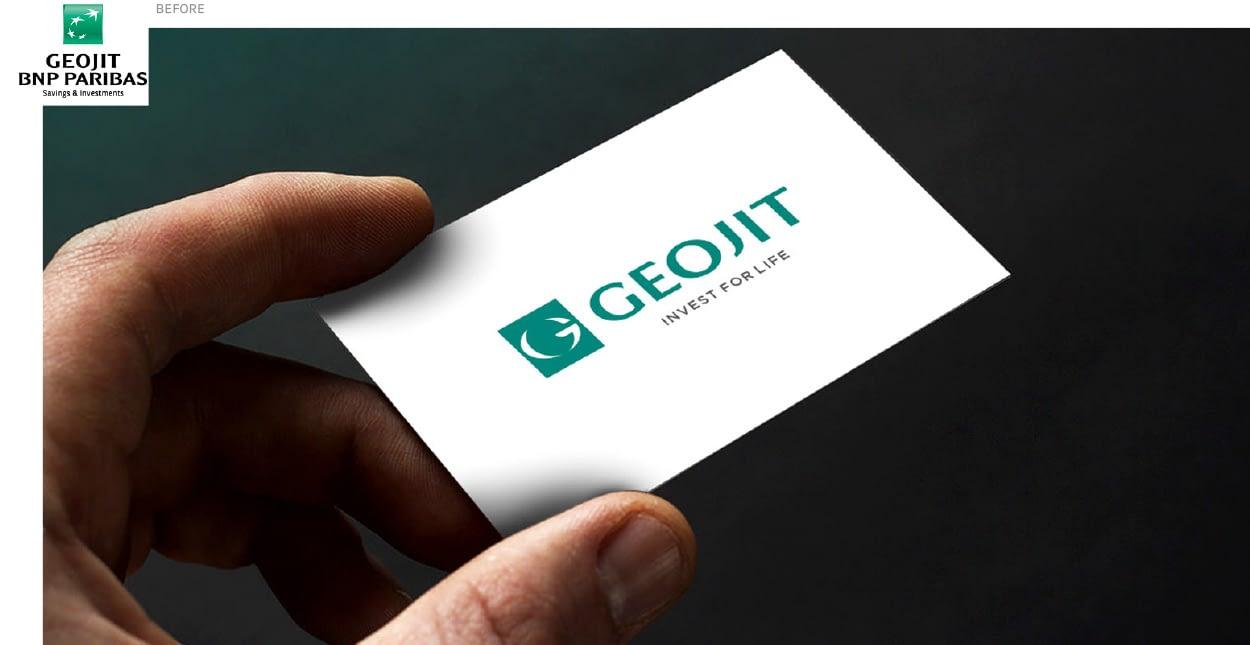 GEOJIT VISITING CARD DESIGN