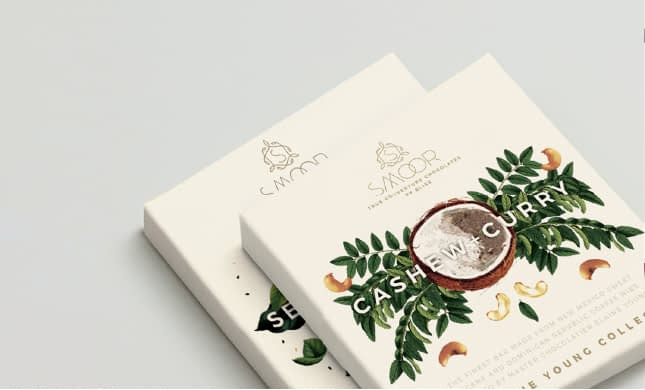 SMOOR CASHEW+CURRY BAR PACKAGE DESIGN