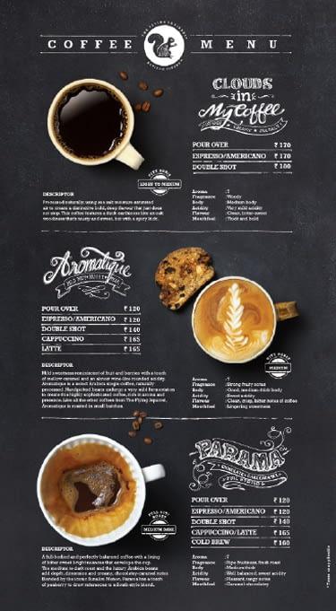FLYING SQUIRREL CAFE MENU DESIGN