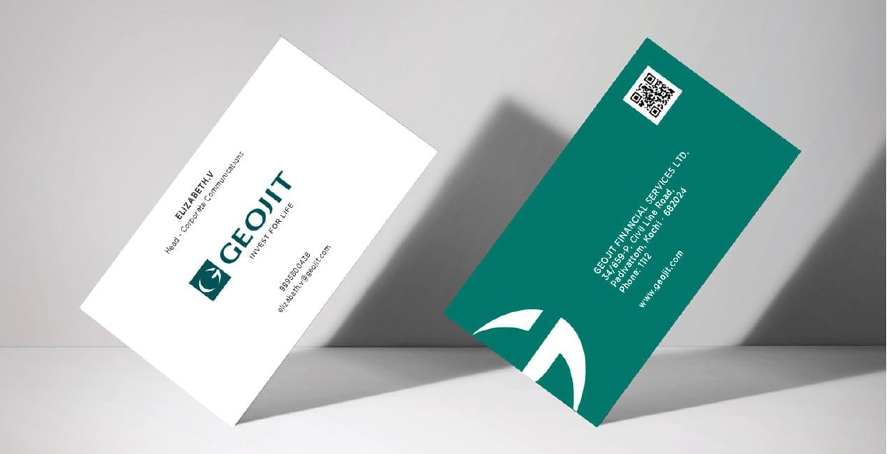 GEOJIT VISITING CARD DESIGN 2
