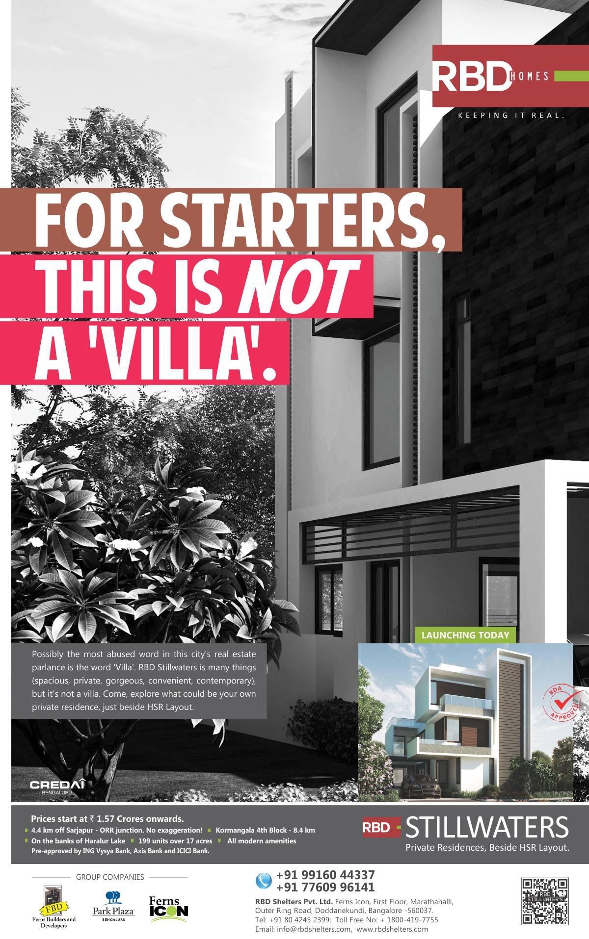 RBD stillwaters ads
