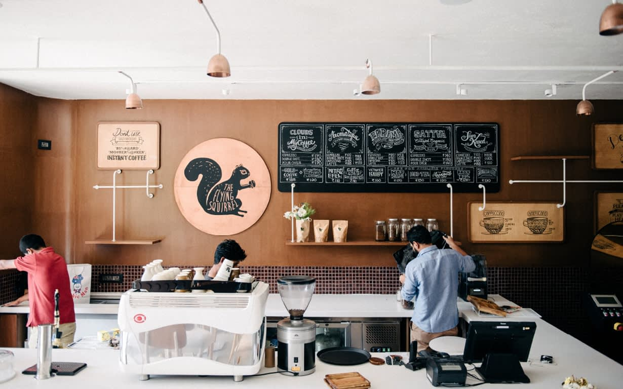 FLYING SQUIRREL CAFE BRANDING DESIGN
