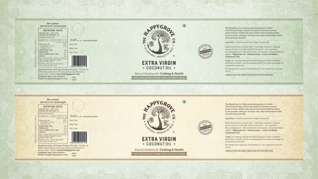 THE HAPPY GROVE CO PACKING LABEL DESIGN