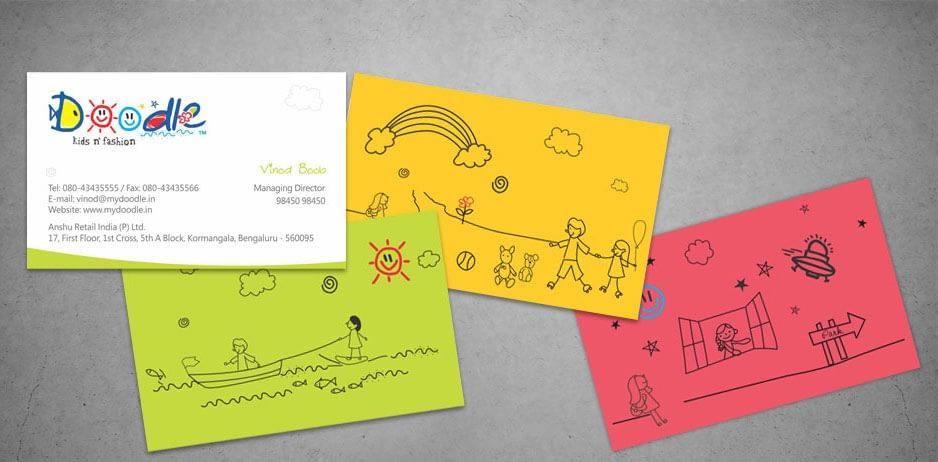 DOODLE VISITING CARD DESIGN
