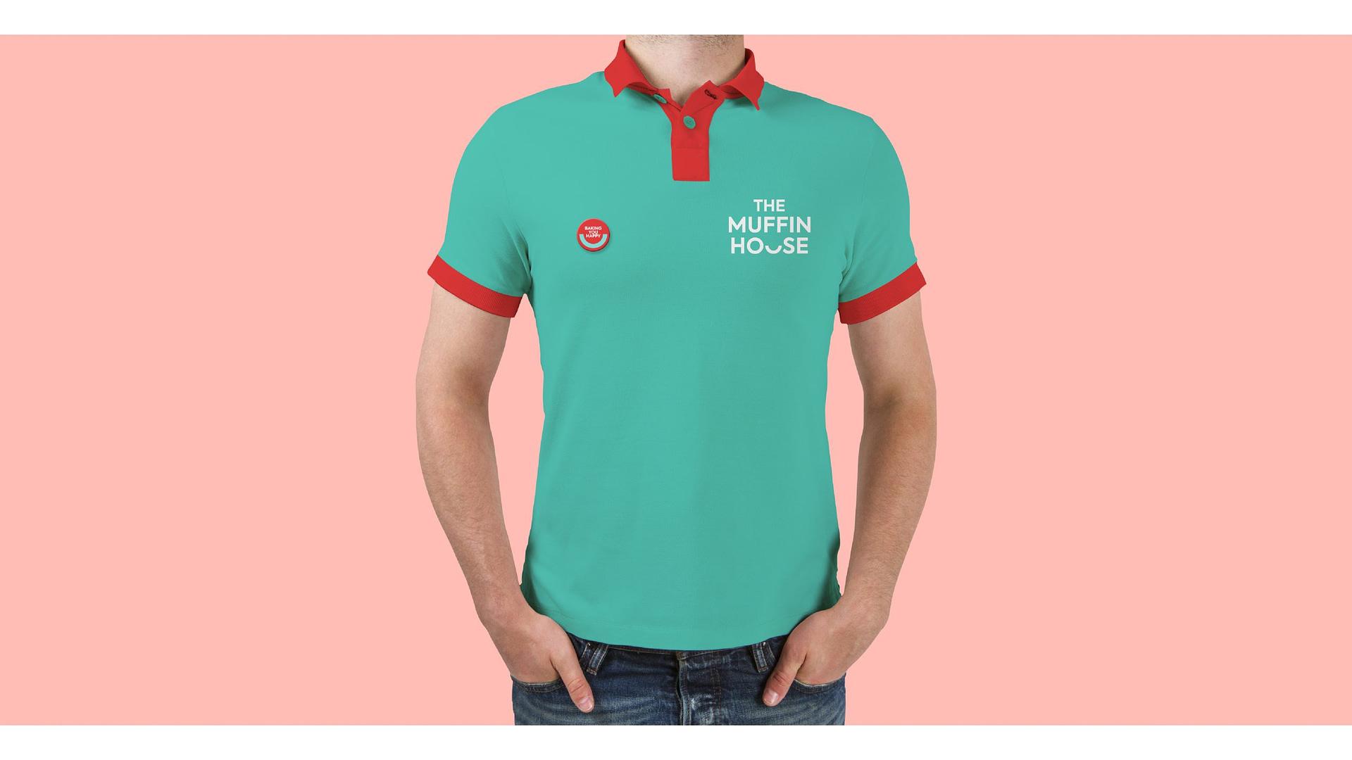 THE MUFFIN HOUSE T SHIRT BRANDING