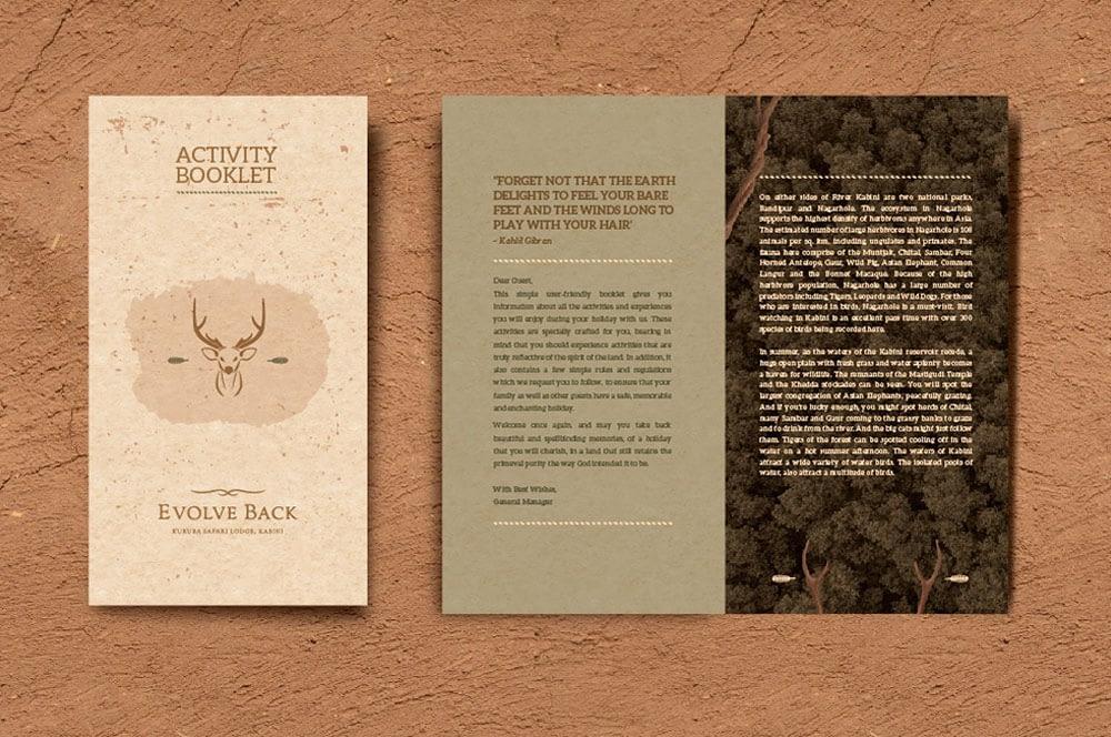EVOLVE BACK KABINI ACTIVITY BOOKLET DESIGN